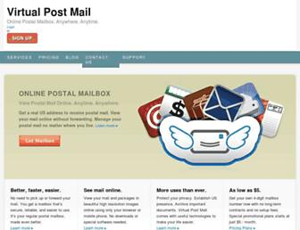 Thumbshot of Virtualpostmail.com
