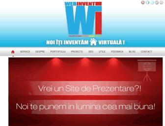 Main page screenshot of webinvent.ro