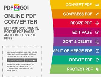 pdf2go.com screenshot