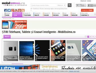 Main page screenshot of stiri-telefoane.mobilissimo.ro