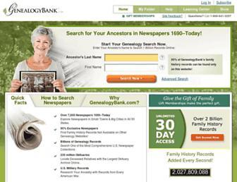 Thumbshot of Genealogybank.com