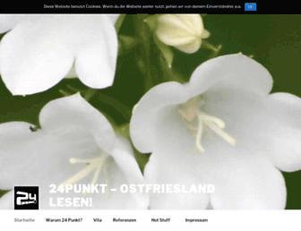 Main page screenshot of 24punkt.de