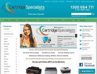 cartridgespecialists.com.au screenshot
