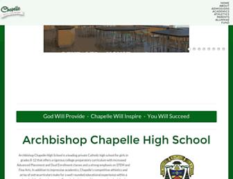 Main page screenshot of archbishopchapelle.org