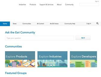community.esri.com screenshot