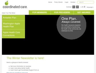 coordinatedcarehealth.com screenshot