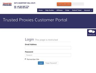 customers.trustedproxies.com screenshot