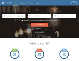 joomla.com screenshot
