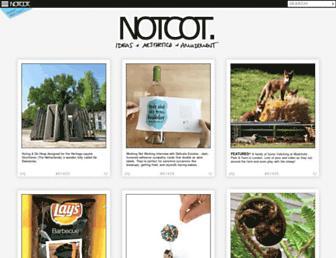 Main page screenshot of notcot.org