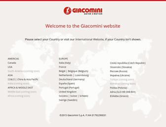 giacomini.com screenshot