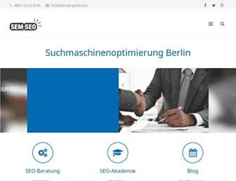 Main page screenshot of sem-seo-gmbh.de