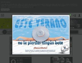 Main page screenshot of loteriasyapuestas.es