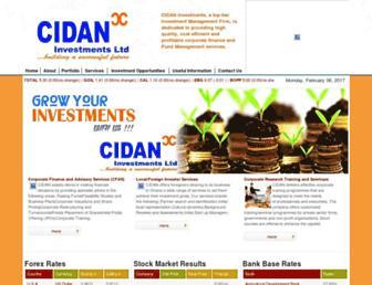 cidaninvestments.com screenshot