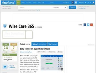 wise-care-365.en.softonic.com screenshot