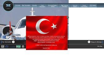 Main page screenshot of celebihandling.com.tr