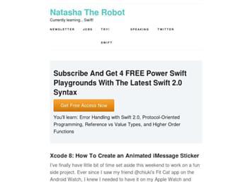 Thumbshot of Natashatherobot.com