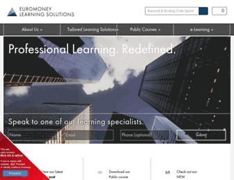 euromoneylearningsolutions.com screenshot