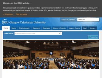 gcu.ac.uk screenshot