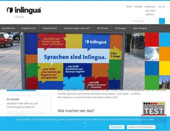 Main page screenshot of inlingua-luebeck.de