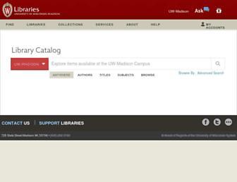 search.library.wisc.edu screenshot