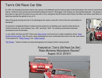 Main page screenshot of tamsoldracecarsite.net