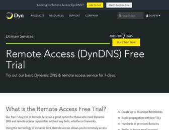 Main page screenshot of dvrdns.org
