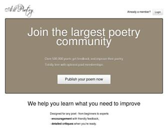 Thumbshot of Allpoetry.com