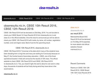 Thumbshot of Cbse-results.in