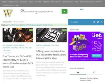 Main page screenshot of wololo.net