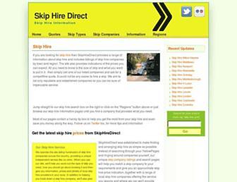 Main page screenshot of skiphiredirect.co.uk