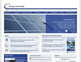 energy-community.org screenshot