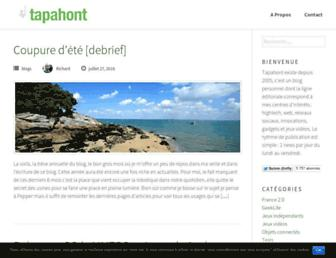 Main page screenshot of tapahont.info