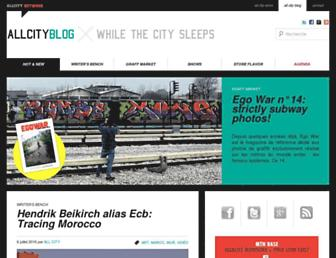 Main page screenshot of allcityblog.fr