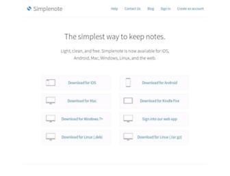 simplenote.com screenshot