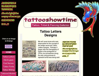 lettering.tattooshowtime.com screenshot