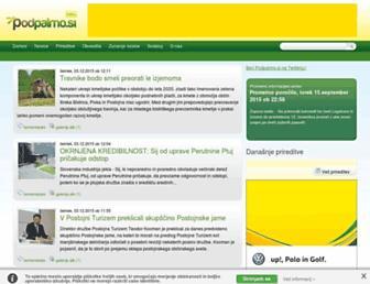 Main page screenshot of podpalmo.si