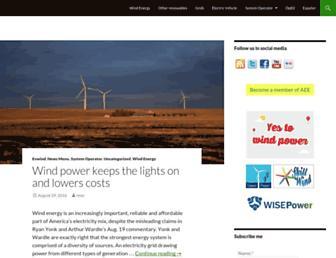 Main page screenshot of evwind.es