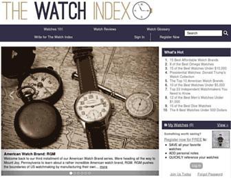 thewatchindex.com screenshot