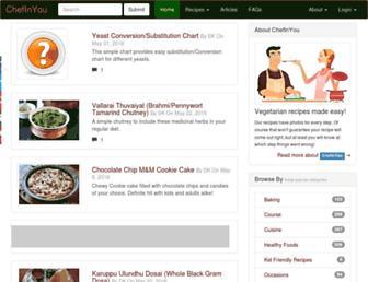 Screenshot for chefinyou.com