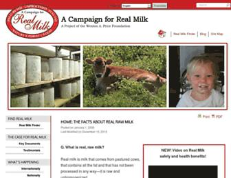 Thumbshot of Realmilk.com
