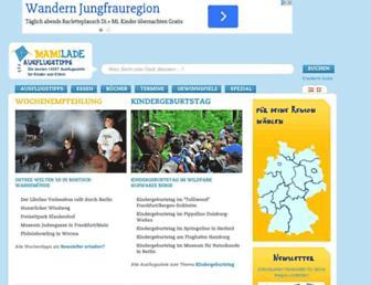 Main page screenshot of mamilade.de