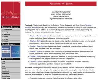 algs4.cs.princeton.edu screenshot