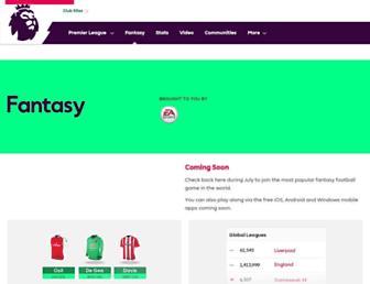fantasy.premierleague.com screenshot