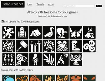 game-icons.net screenshot