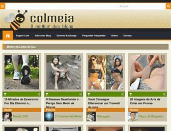 Main page screenshot of colmeia.blog.br