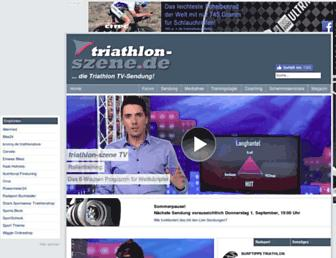 Main page screenshot of triathlon-szene.de