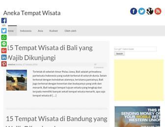 anekatempatwisata.com screenshot