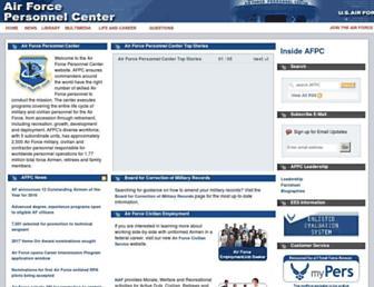 afpc.af.mil screenshot