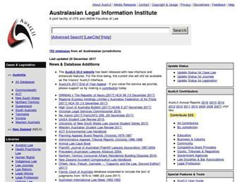 classic.austlii.edu.au screenshot