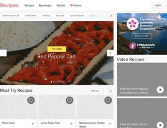 recipes.timesofindia.com screenshot